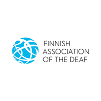 Logo of the Finnish Association of the Deaf